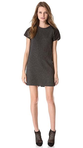 Nicholas Static Tweed Tee Dress