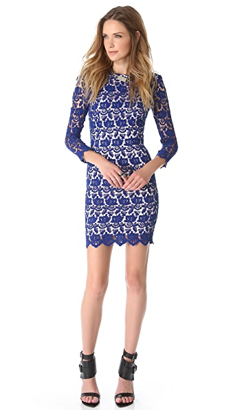 Nicholas Peony Lace Shift Dress