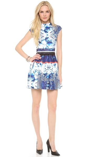 Nicholas Scuba Box Pleat Dress