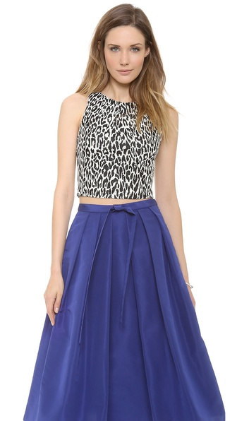 Nicholas Graphic Leopard Crop Top
