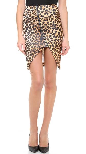 Nicholas Leopard Split Pencil Skirt