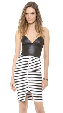 Nicholas Leather Crop Top