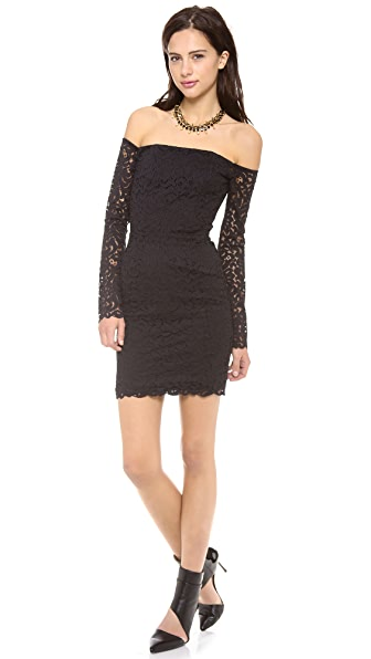 Nicholas Paisley Lace Off Shoulder Dress