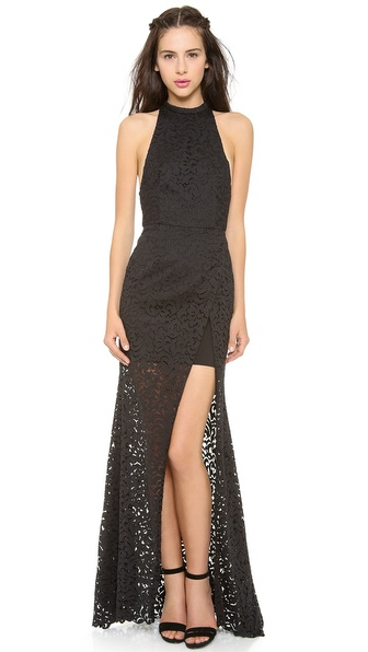 Nicholas Paisley Lace Maxi Dress