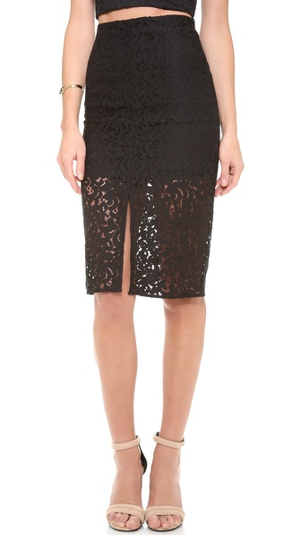 Nicholas Paisley Lace Pencil Skirt