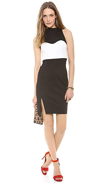 Nicholas High Neck Contrast Dress