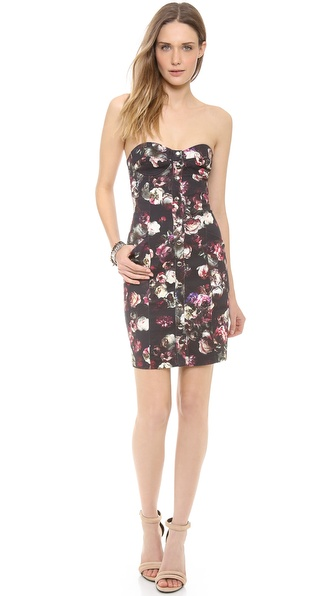Nicholas Romantic Floral Strapless Dress