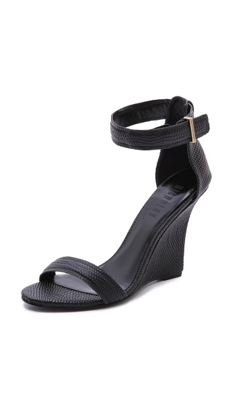 Nicholas Lotus Ankle Strap Wedges