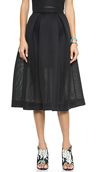 Nicholas Embroidered Mesh Ball Skirt