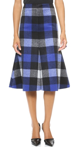 Nicholas Ultracheck Flared Skirt