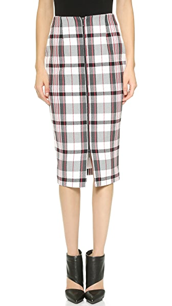 Nicholas Nicholas Woven Check Pencil Skirt (Grey)