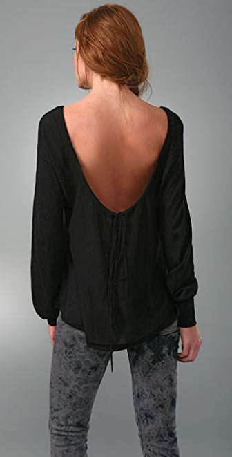 Nightcap Clothing Cashmere Drop Back Sweater