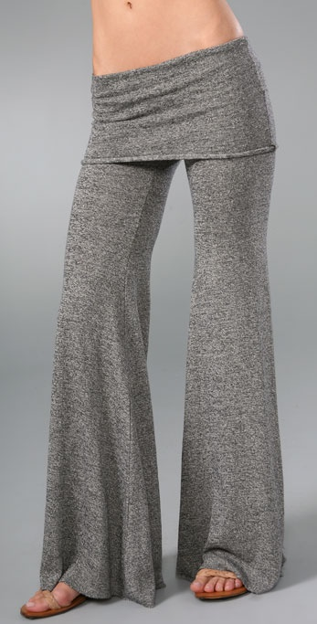 Nightcap Clothing Fold Over Flare Pants