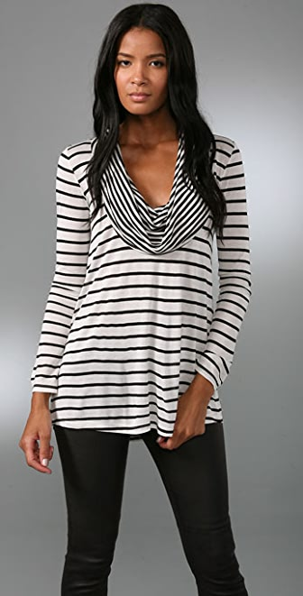 Nightcap Clothing Marine Cowl Neck Top