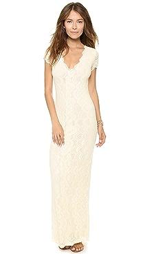 Nightcap Clothing Victorian Lace Cap Sleeve Dress
