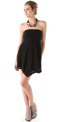 Nightcap Clothing Mini Victorian Strapless Dress