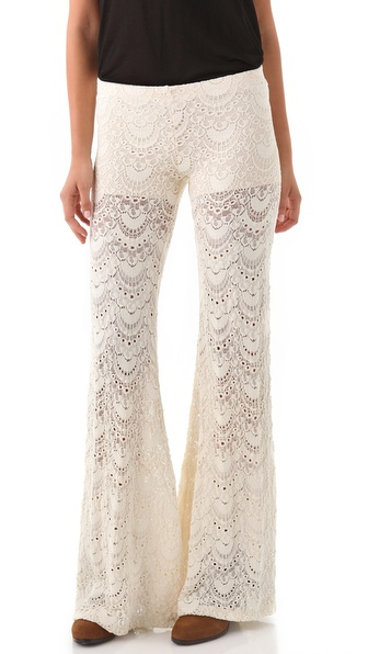 Nightcap Clothing Spanish Fan Lace Pants