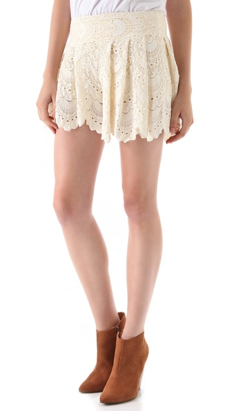Nightcap Clothing Spanish Fan Lace Shorts