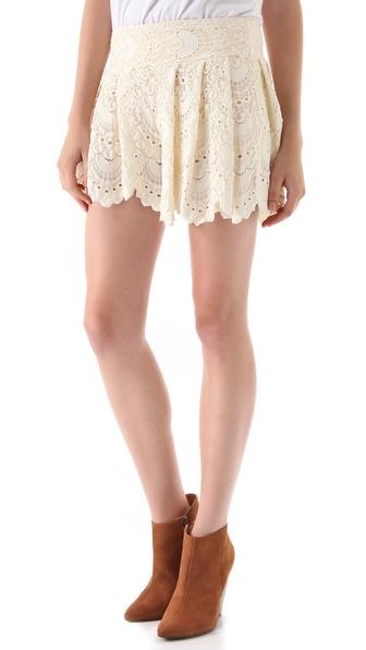 Nightcap Clothing Spanish Fan Lace Shorts