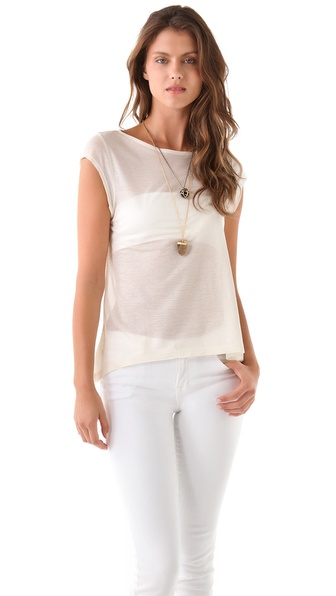 Nightcap Clothing Lace Scoop Tee