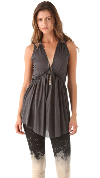 Nightcap Clothing Plunging V Tunic