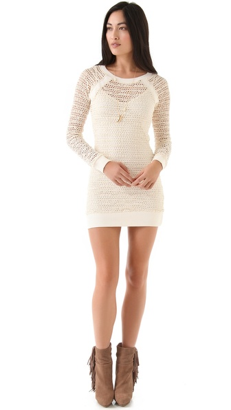 Nightcap Clothing Lace Raglan Dress