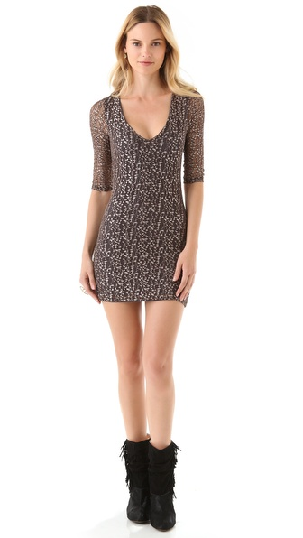 Nightcap Clothing Cheetah Lace Dress
