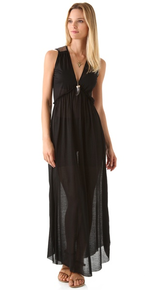 Nightcap Clothing Plunging V Maxi Dress