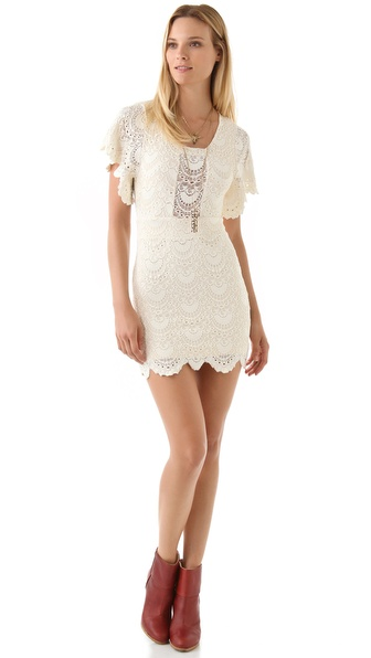 Nightcap Clothing Spanish Lace Flutter Dress