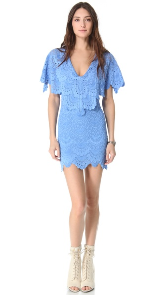Nightcap Clothing Spanish Lace Poncho Dress