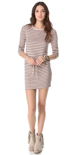 Nightcap Clothing Striped Terry Dress