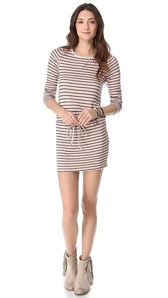 Nightcap Clothing Striped Terry Dress