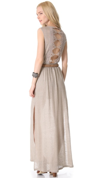 Nightcap Clothing Diamond Lace Maxi Dress