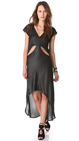 Nightcap Clothing Cutaway Cap Sleeve Gown