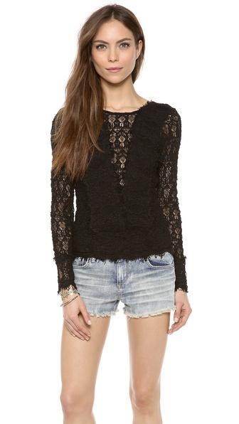Nightcap Clothing Veronica Lace Top
