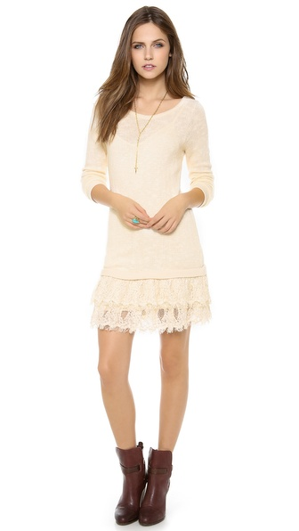 Nightcap Clothing Peek-A-Boo Sweater Dress
