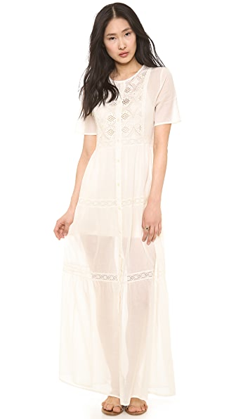 Nightcap Clothing Embroidered Prairie Gown