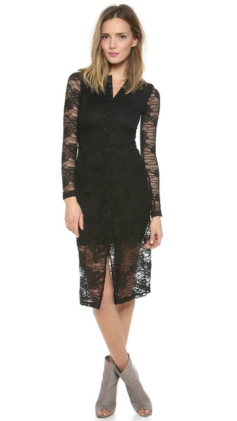 Nightcap Clothing Marigold Pencil Lace Dress