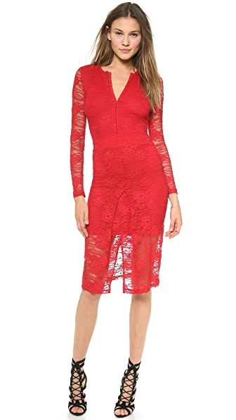 Nightcap Clothing Marigold Pencil Lace Dress