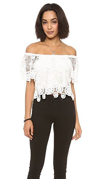 Nightcap Clothing Carmen Crochet Top
