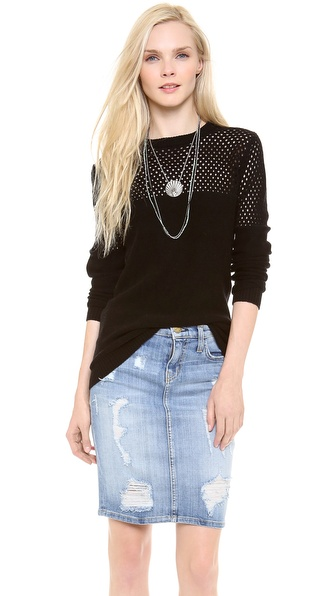 Nightcap Clothing Open Knit Crew Neck Sweater