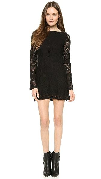 Kupi Nightcap Clothing haljinu online i raspordaja za kupiti Nightcap Clothing Crochet Priscilla Dress Black online