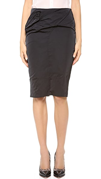 Nina Ricci Front Gathered Skirt with Lace Lining