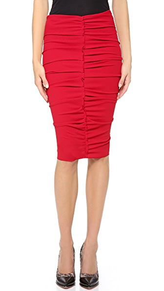 Nina Ricci Ruched Pencil Skirt