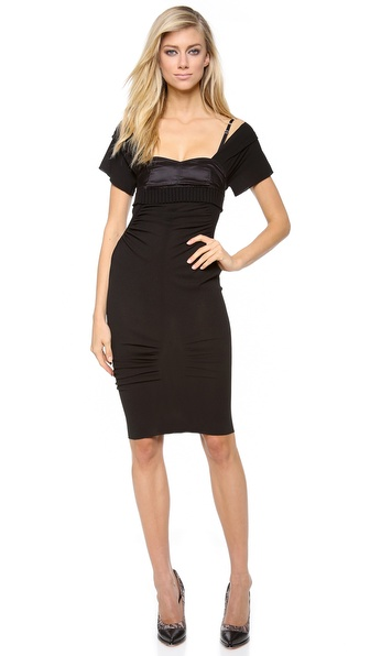 Nina Ricci Cap Sleeve Fitted Dress