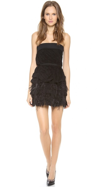Nina Ricci Strapless Cocktail Dress