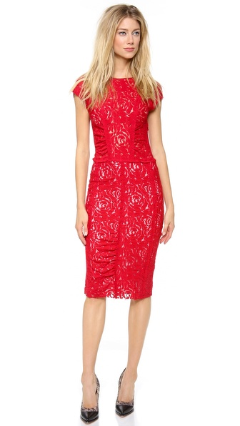 Nina Ricci Cap Sleeve Lace Dress