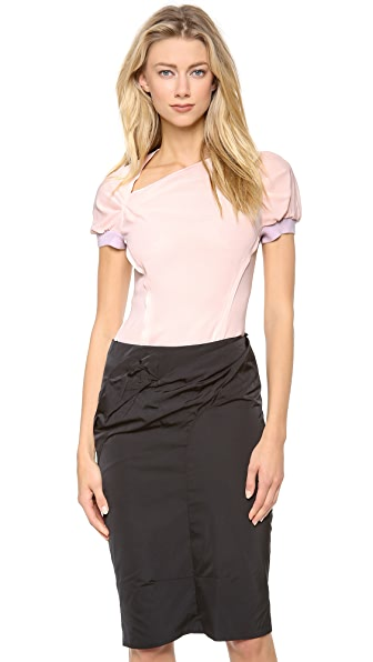 Nina Ricci Cap Sleeve Side Slash Top