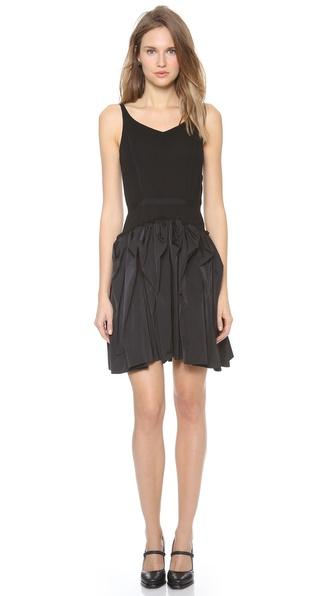 Nina Ricci Sleeveless Ruffle Skirt Dress