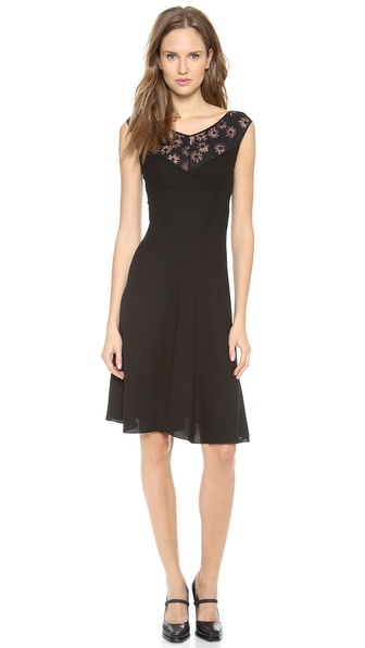 Nina Ricci Burnout Floral Dress